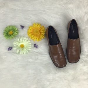 Naturalized Brown Leather Loafers Slip On Shoes🛍